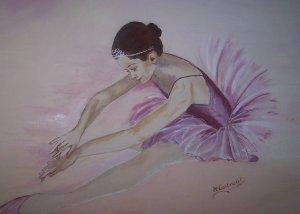 L 39 art de la danse danse for Nettoyer une peinture a l huile